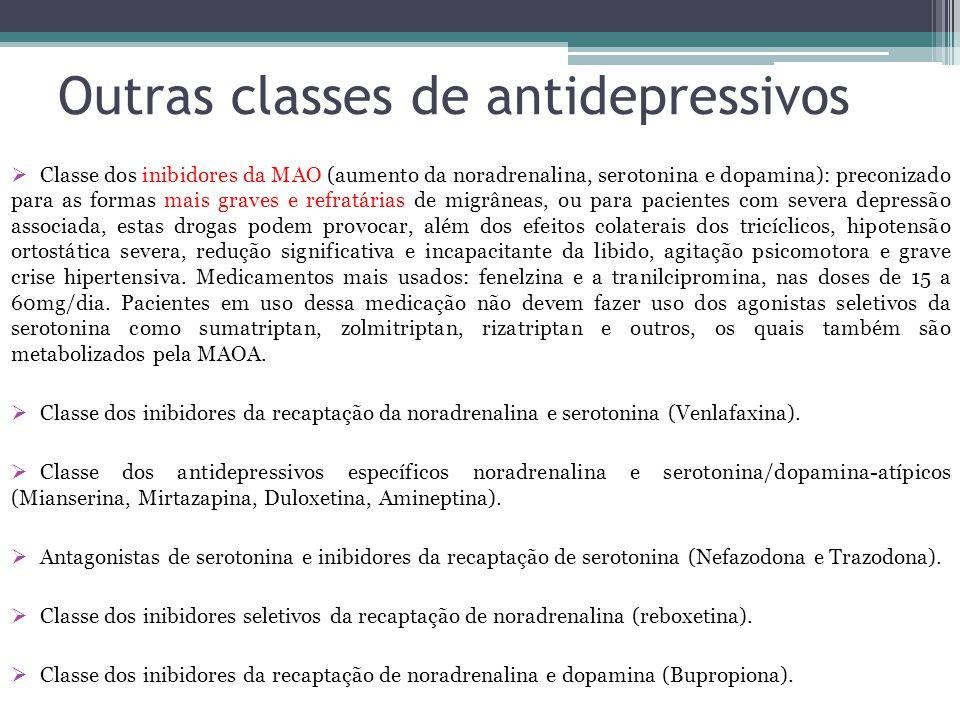 Outras classes de antidepressivos