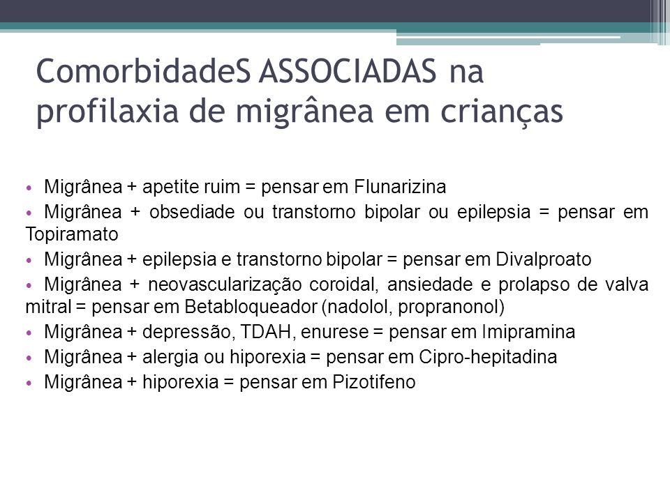 ComorbidadeS ASSOCIADAS na profilaxia de migrânea em crianças