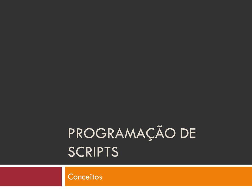 Programação de SCRIPTS