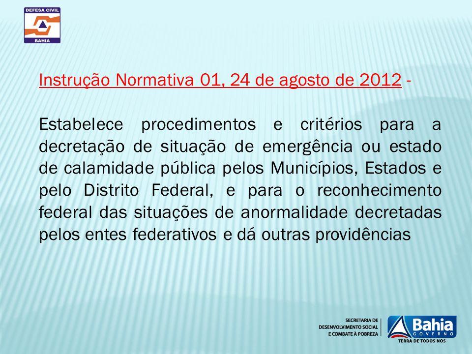 Instrução Normativa 01, 24 de agosto de 2012 -
