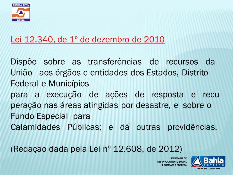 Lei 12.340, de 1º de dezembro de 2010
