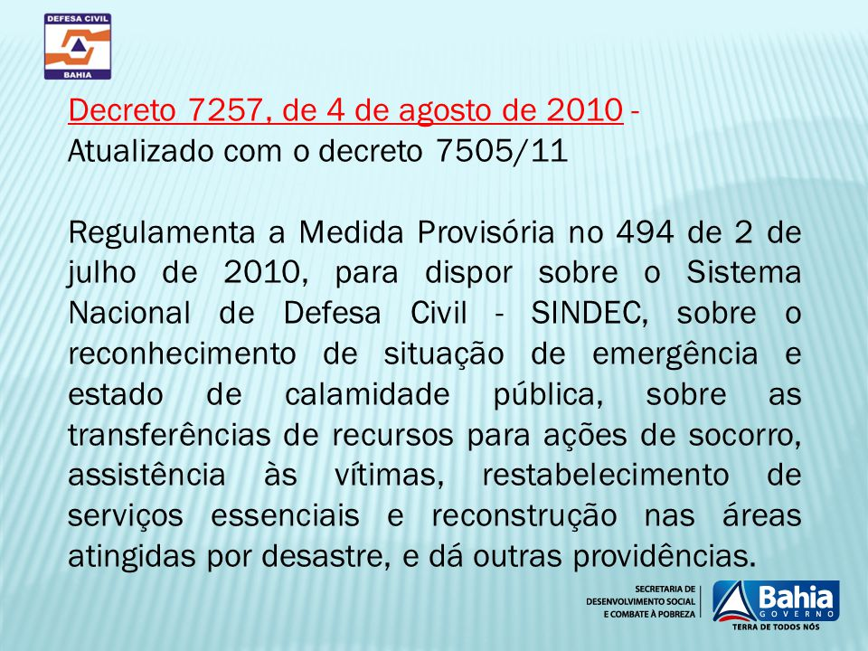 Decreto 7257, de 4 de agosto de 2010 -