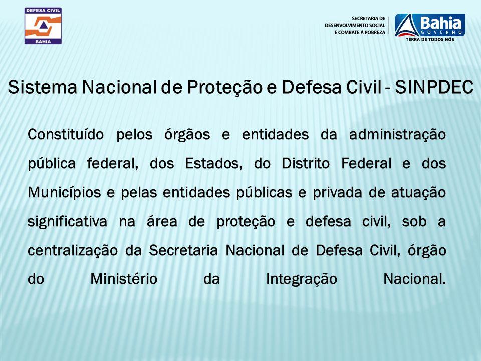 Sistema Nacional de Proteção e Defesa Civil - SINPDEC