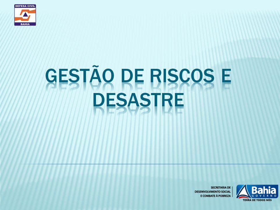 GESTÃO DE RISCOS E DESASTRE