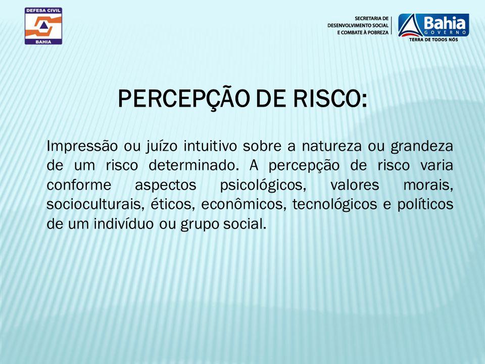 PERCEPÇÃO DE RISCO: