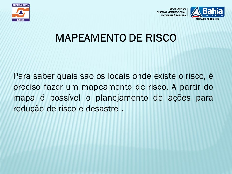 MAPEAMENTO DE RISCO