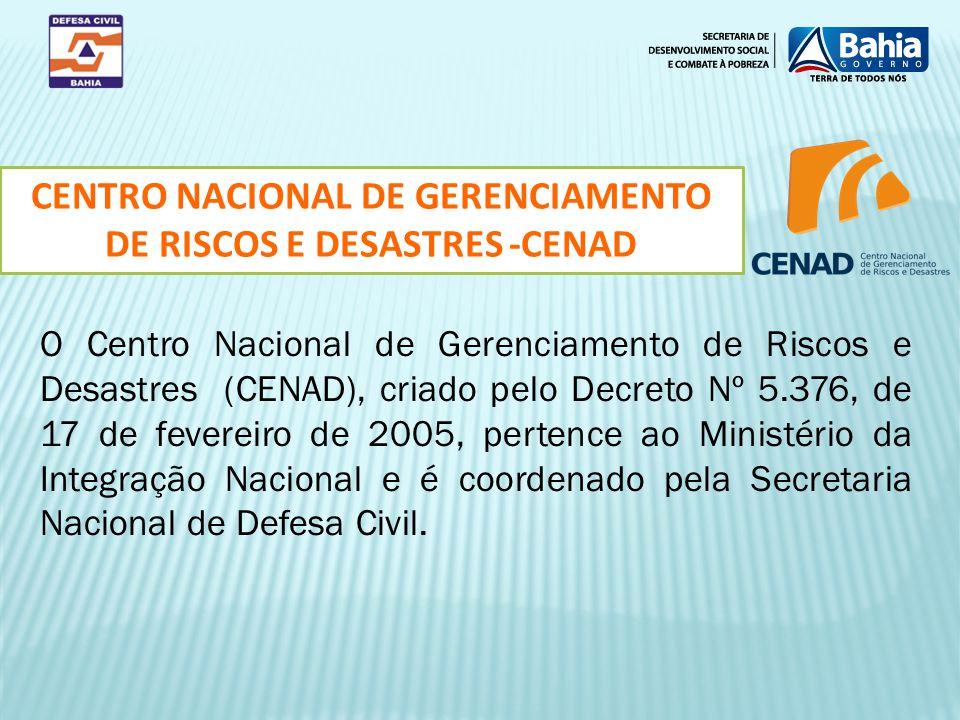 CENTRO NACIONAL DE GERENCIAMENTO DE RISCOS E DESASTRES -CENAD