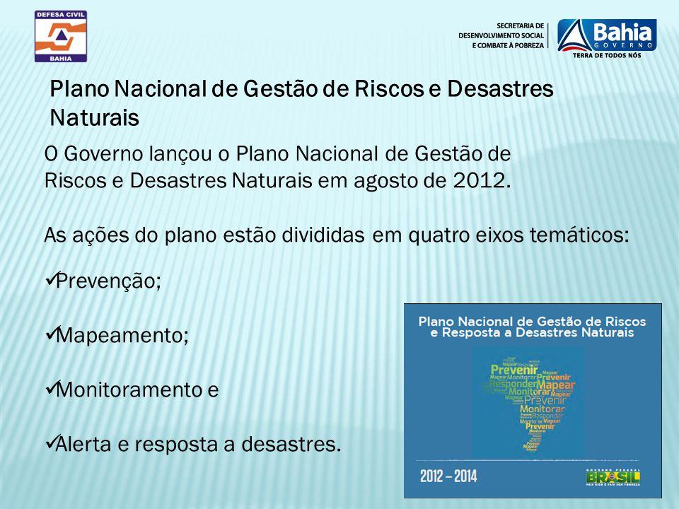 Plano Nacional de Gestão de Riscos e Desastres Naturais