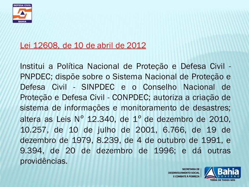 Lei 12608, de 10 de abril de 2012