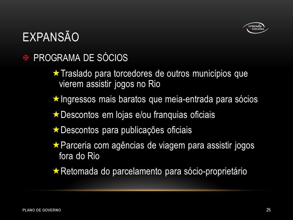 EXPANSÃO PROGRAMA DE SÓCIOS