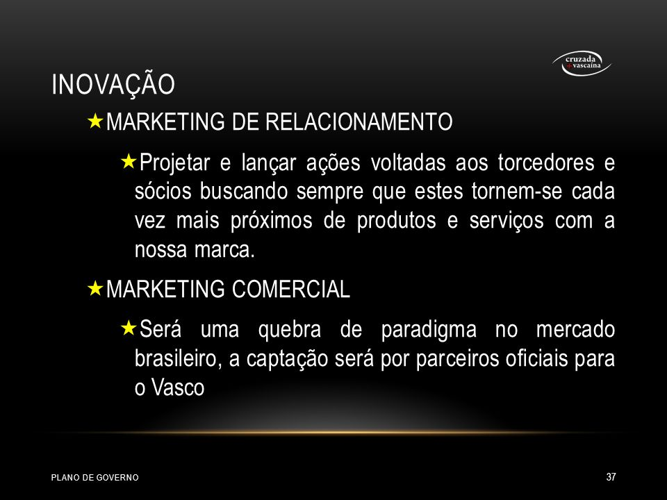 INOVAÇÃO MARKETING DE RELACIONAMENTO