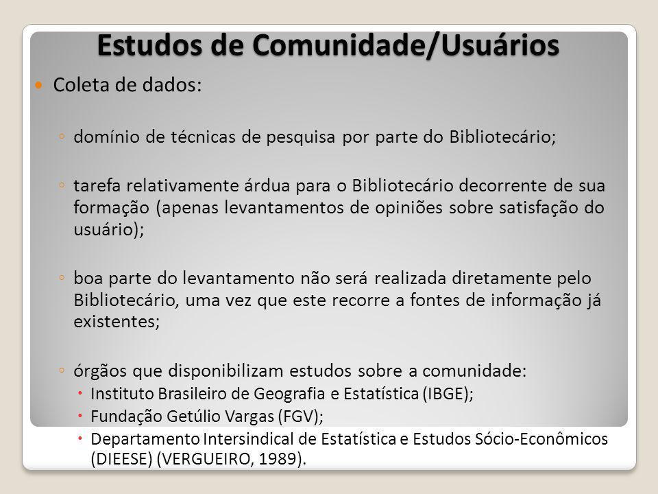 Estudos de Comunidade/Usuários