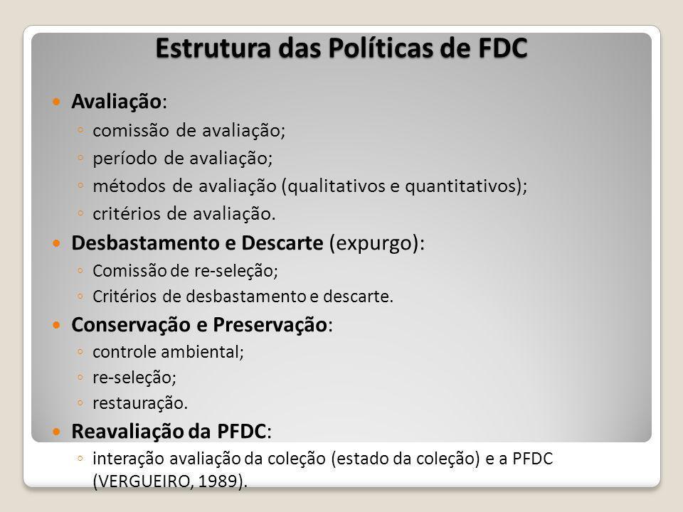 Estrutura das Políticas de FDC