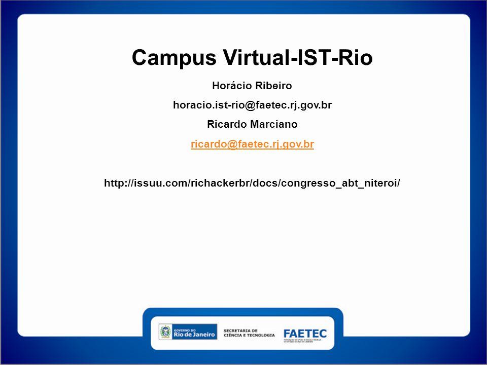 Campus Virtual-IST-Rio Horácio Ribeiro