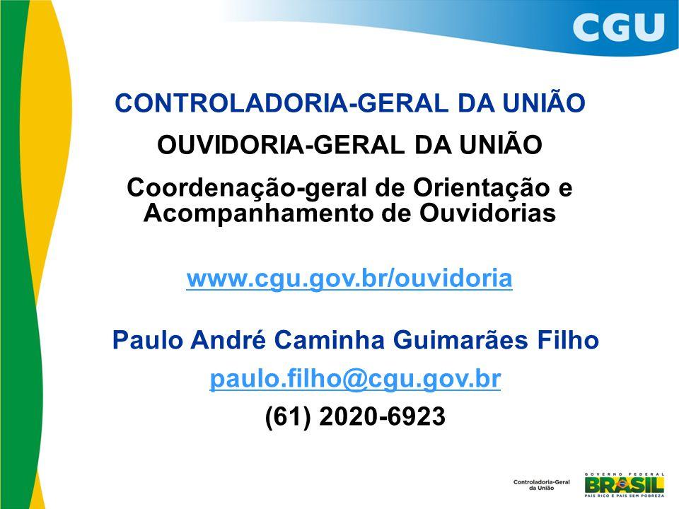 CONTROLADORIA-GERAL DA UNIÃO OUVIDORIA-GERAL DA UNIÃO