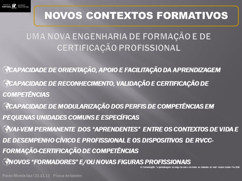 UMA NOVA ENGENHARIA DE FORMAÇÃO E DE CERTIFICAÇÃO PROFISSIONAL