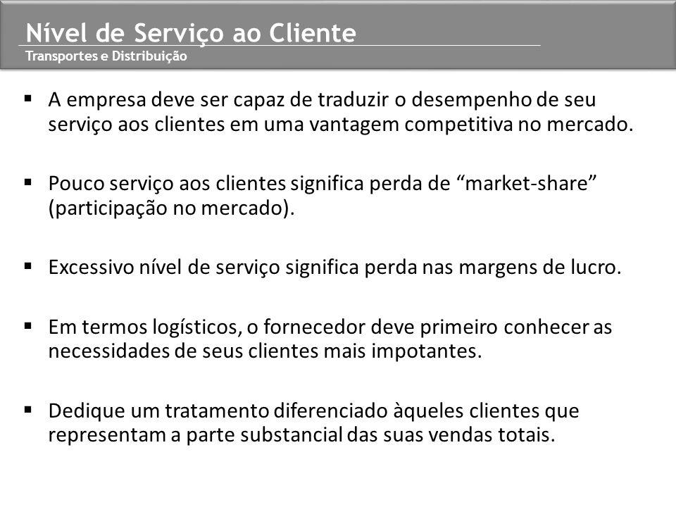 Nível de Serviço ao Cliente Transportes e Distribuição