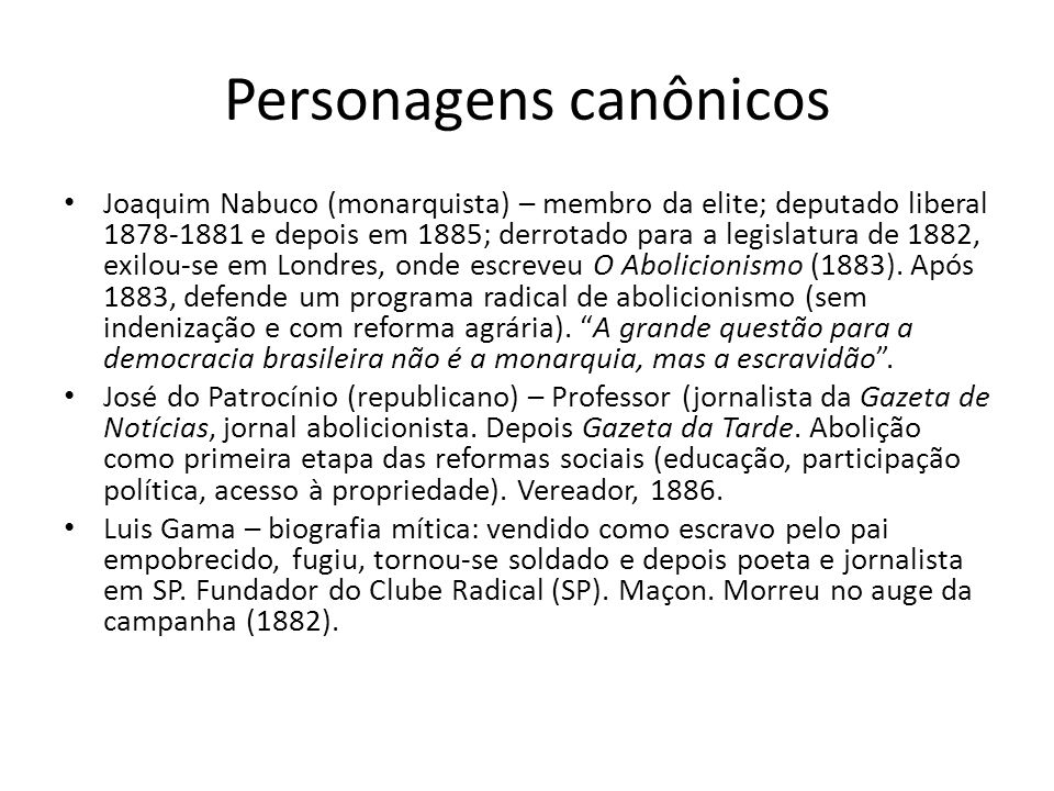 Personagens canônicos