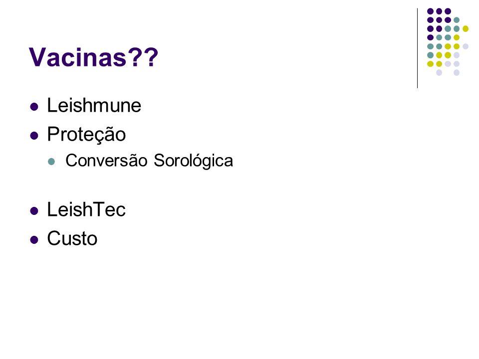 Vacinas Leishmune Proteção Conversão Sorológica LeishTec Custo