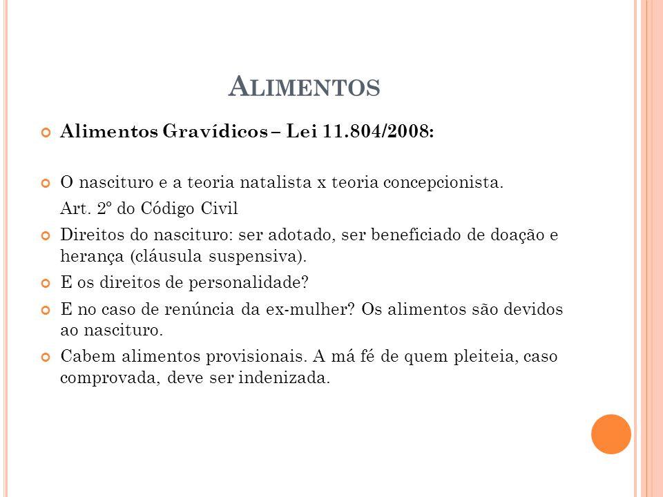 Alimentos Alimentos Gravídicos – Lei 11.804/2008: