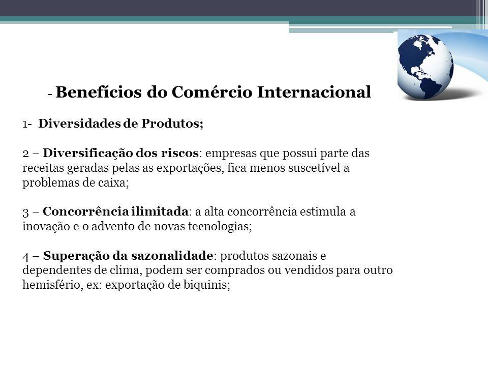 Benefícios do Comércio Internacional