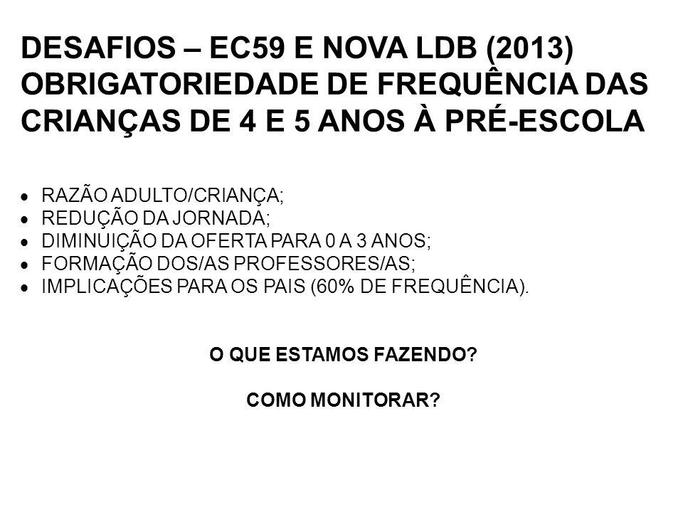 DESAFIOS – EC59 E NOVA LDB (2013)