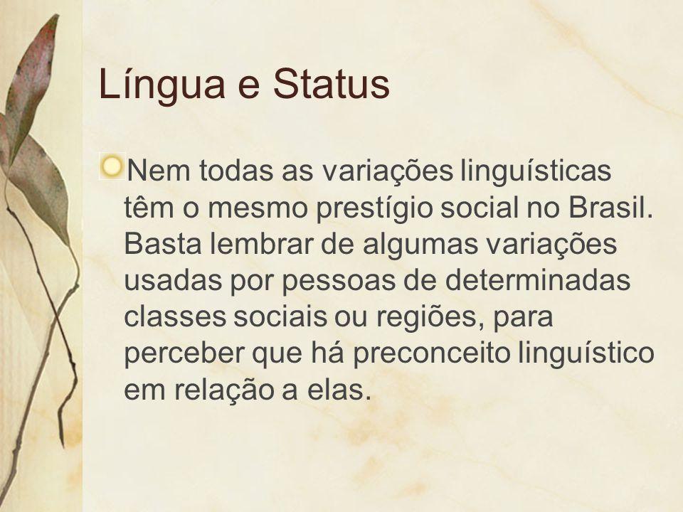 Língua e Status