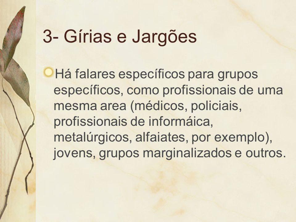 3- Gírias e Jargões