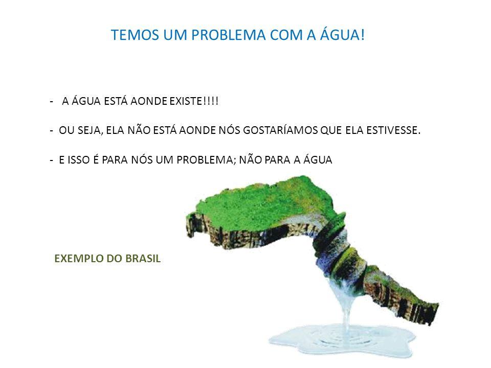 TEMOS UM PROBLEMA COM A ÁGUA!