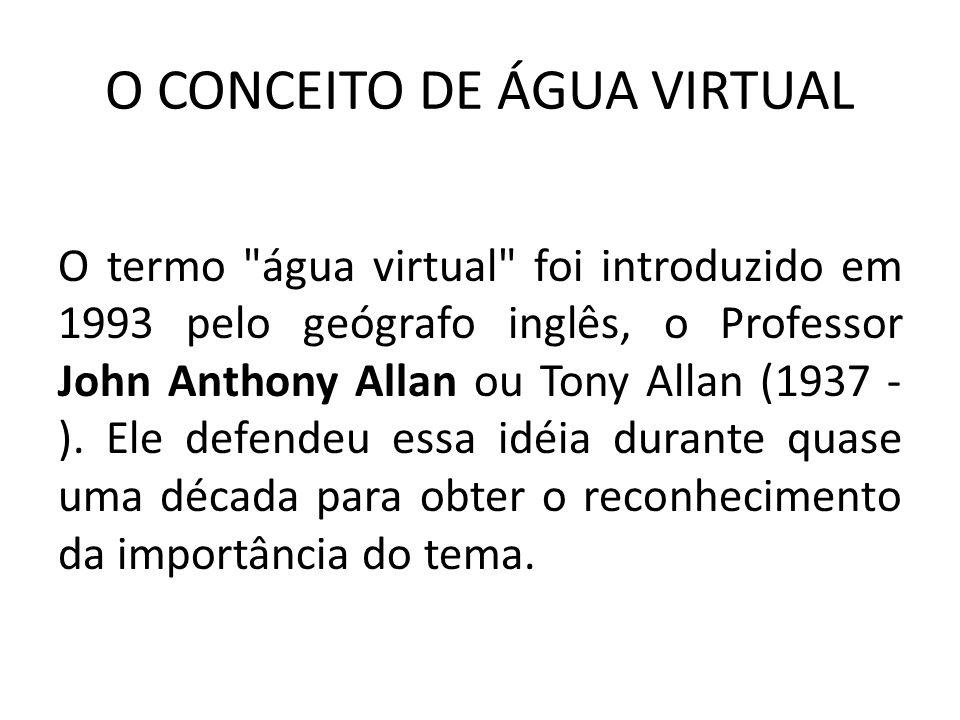 O CONCEITO DE ÁGUA VIRTUAL