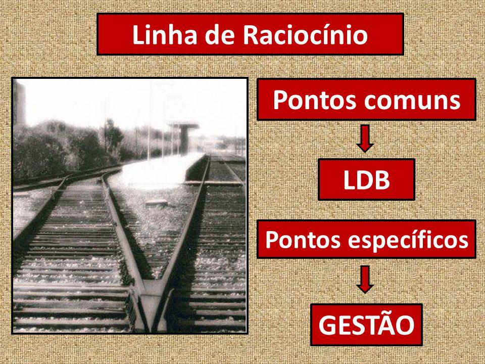 Linha de Raciocínio Pontos comuns LDB GESTÃO