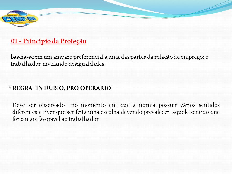 01 - Princípio da Proteção