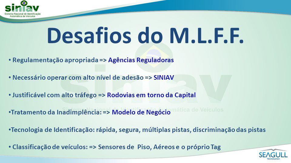 Desafios do M.L.F.F. Regulamentação apropriada => Agências Reguladoras. Necessário operar com alto nível de adesão => SINIAV.