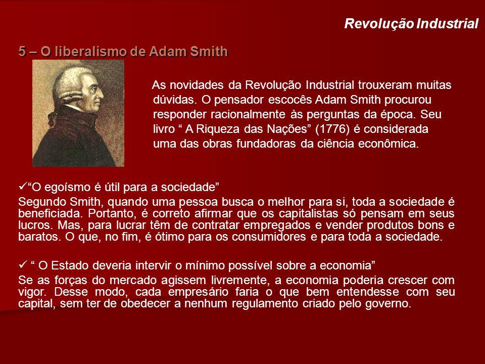 5 – O liberalismo de Adam Smith