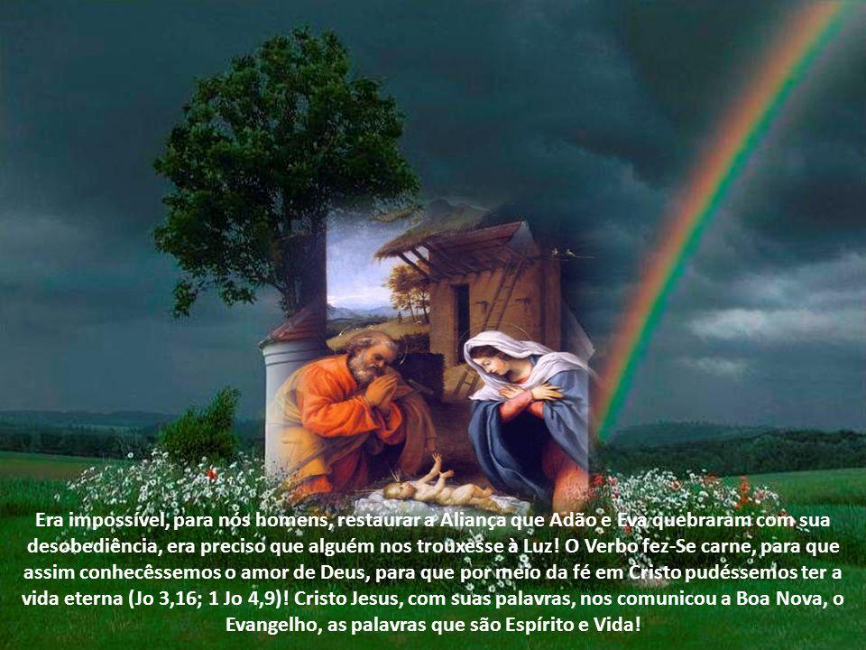 Era impossível, para nós homens, restaurar a Aliança que Adão e Eva quebraram com sua desobediência, era preciso que alguém nos trouxesse à Luz.