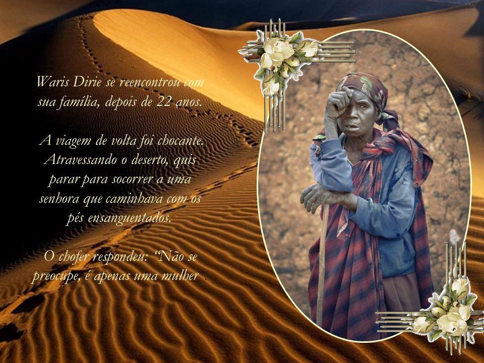 Waris Dirie se reencontrou com sua família, depois de 22 anos
