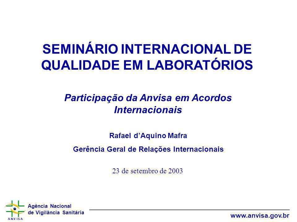 SEMINÁRIO INTERNACIONAL DE QUALIDADE EM LABORATÓRIOS