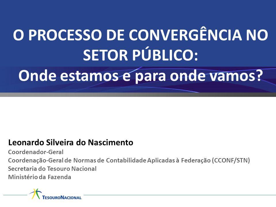O PROCESSO DE CONVERGÊNCIA NO SETOR PÚBLICO: