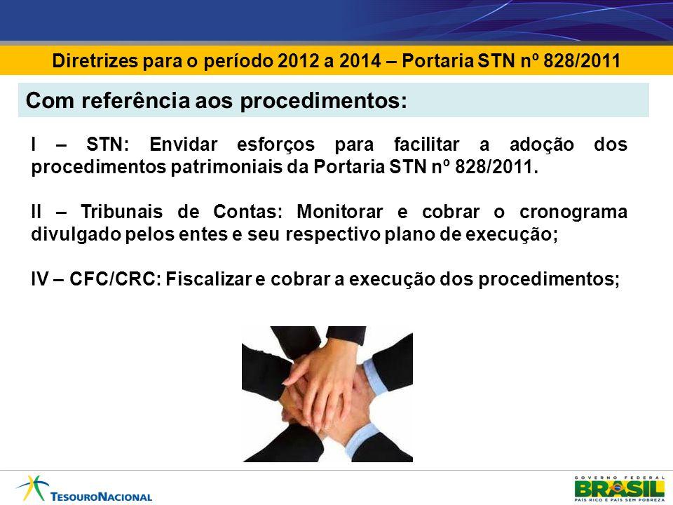 Diretrizes para o período 2012 a 2014 – Portaria STN nº 828/2011