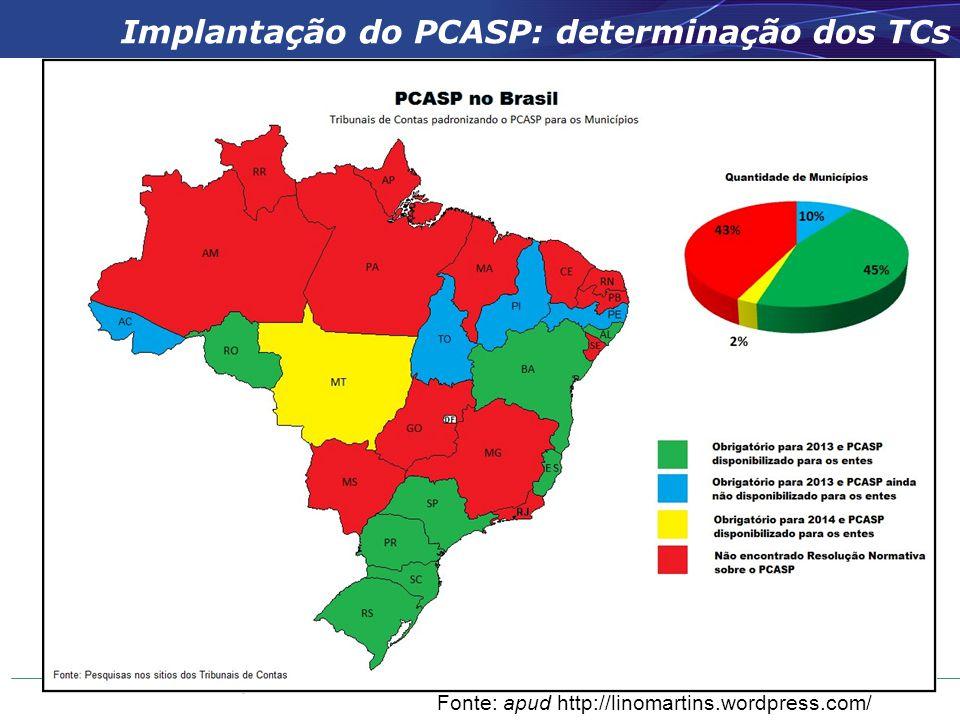 Implantação do PCASP: determinação dos TCs