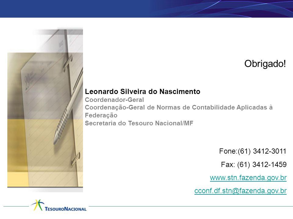 Obrigado! Leonardo Silveira do Nascimento Fone:(61) 3412-3011