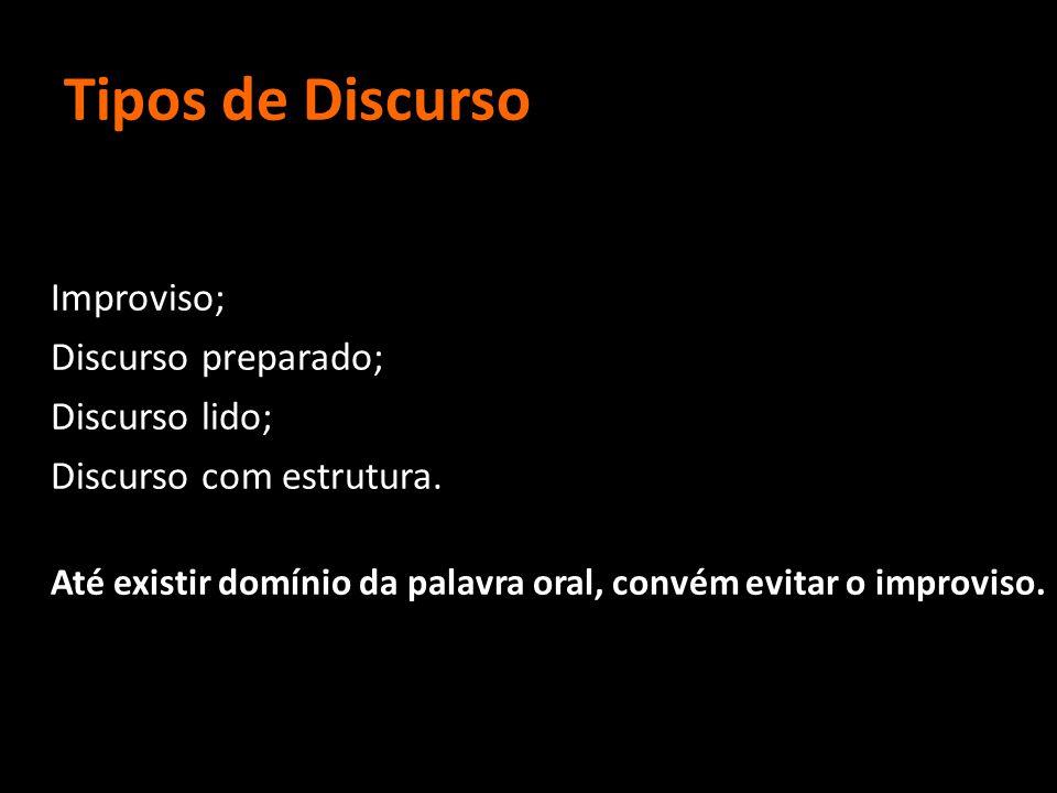 Tipos de Discurso Discurso preparado; Discurso lido;