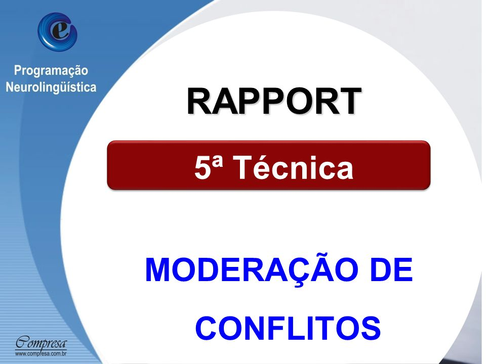 MODERAÇÃO DE CONFLITOS