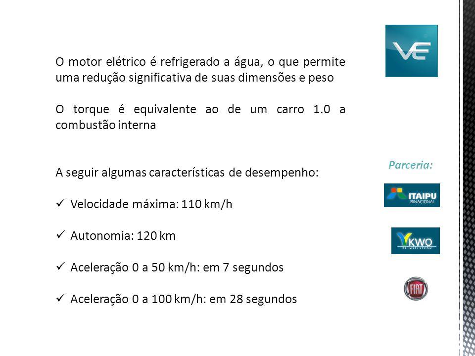 O torque é equivalente ao de um carro 1.0 a combustão interna