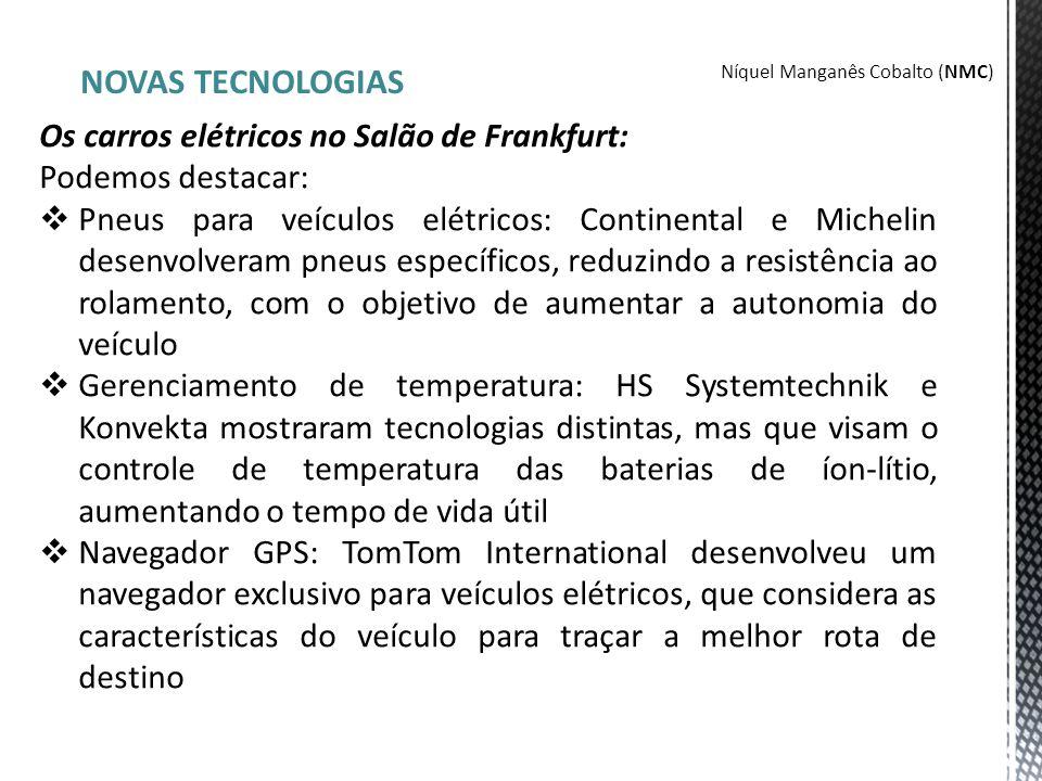NOVAS TECNOLOGIAS Os carros elétricos no Salão de Frankfurt: