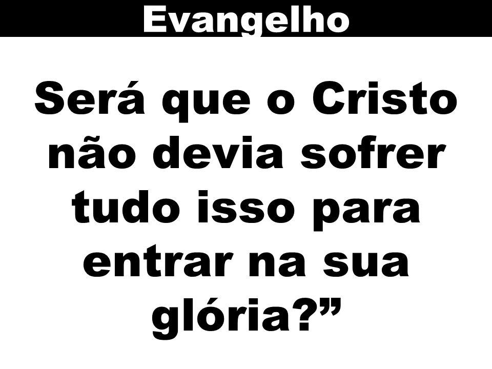 Evangelho Será que o Cristo não devia sofrer tudo isso para entrar na sua glória 108