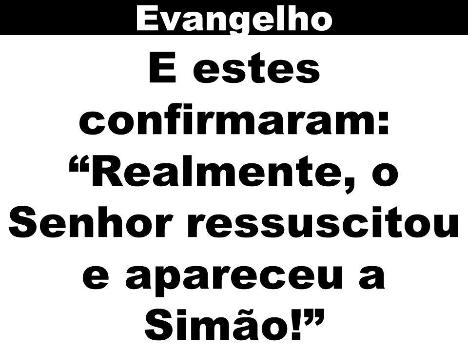 Evangelho E estes confirmaram: Realmente, o Senhor ressuscitou e apareceu a Simão! 123