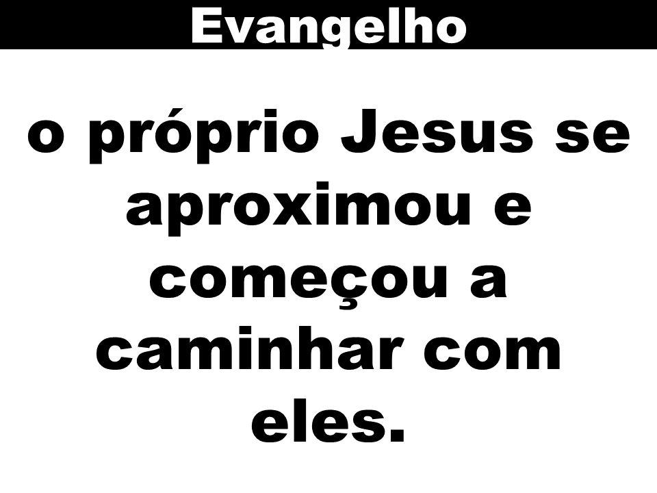 o próprio Jesus se aproximou e começou a caminhar com eles.