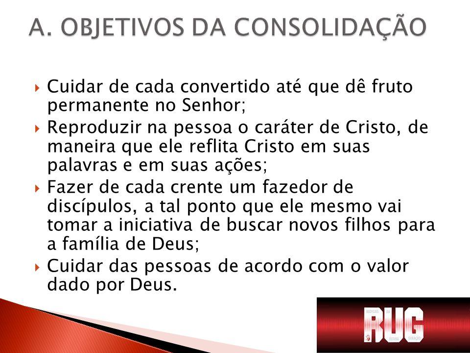 A. OBJETIVOS DA CONSOLIDAÇÃO