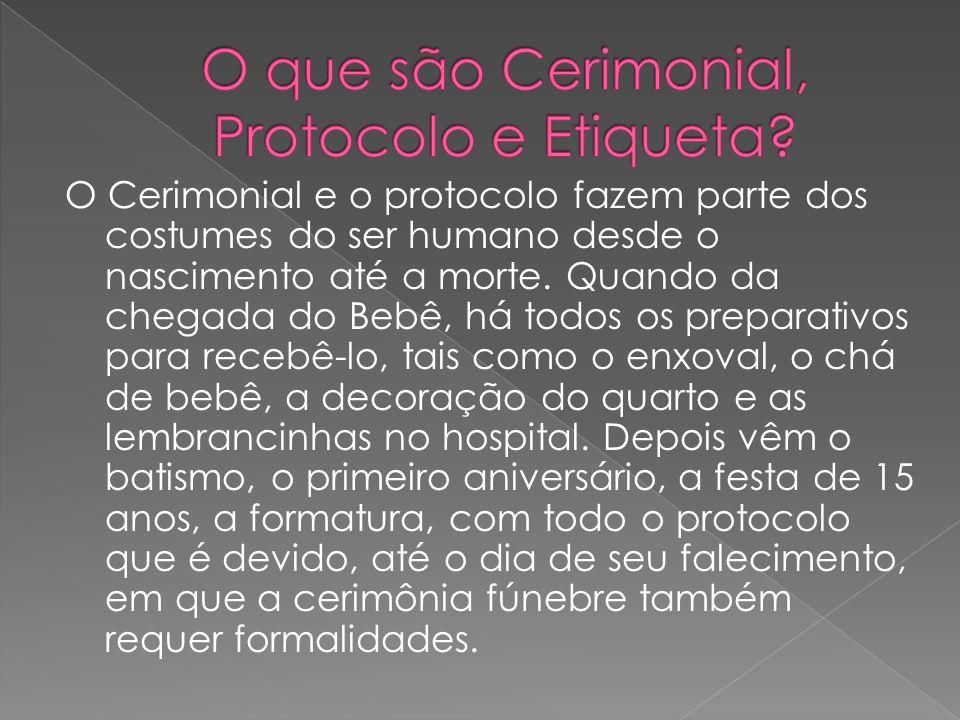 O que são Cerimonial, Protocolo e Etiqueta